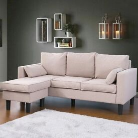 SALE! Corner Sofa Bed Couch – bed Settee Sofa Suite Corner Couch Left & Right Hand Side (Off-white)