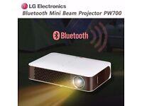 LG PW700 Mini Beam Bluetooth Projector NewJust add Amazon fire TV stick+Kodi for a home Cinema