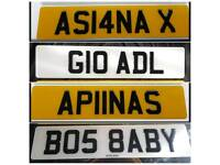 Private Number Plates Boss Baby Apna Asian