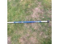 Telescopic pole fishing rod