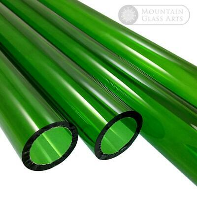 Pyrex Glass Blowing Tubing Green Color 12 Mm X 2 Mm 5 Pieces X 4 Free Shipping