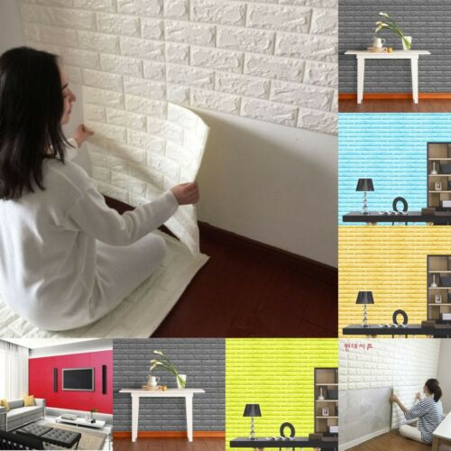 Details About 1 30x Self Adhesive Wall Sticker Panels 3d Stone Brick Soft Foam Thick Wallpaper