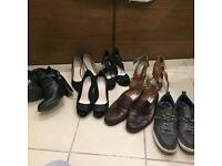 Men's and female shoes
