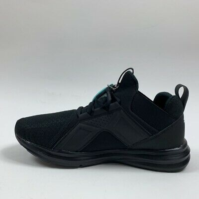 Puma Womens Enzo Wide Training Shoes Black Round Toe Lace Up 191227-03 7.5 New