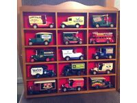 Collection of Days-Gone By Lledo vehicles in presentation cases