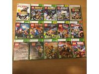 Large Collection of Lego Xbox 360 games Joblot 15 Games Avengers Marvel Batman Hobbit Starwars etc