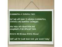 STATISTICS, ECONOMETRICS, ECONOMICS,FINANCE R EVIEW STATA SPSS EXCEL STATS TUTOR - DISSERTATION HELP