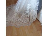 Fabulous cap sleeve open back wedding dress