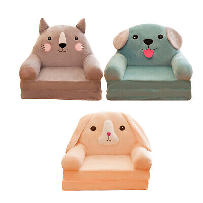 Cartoon Children Fold Sofa Cover 3Piece Washable Chair Couch Seat Slipcover