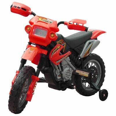 vidaXL Motobicicleta Batería Eléctrica de Niños Roja y Negra Moto de Juguete