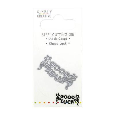 Trimcraft Simply Creative Mini Metal Paper Card Craft Die Set - Good Luck