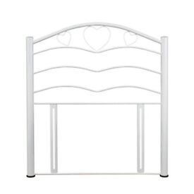 White metal headboard x 2