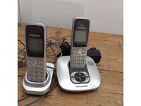Panasonic double landline with answering machine