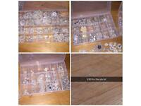 Job lot of crystal / pearl embellishments (wedding / craft )