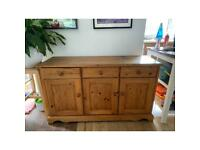 Pine wood side board
