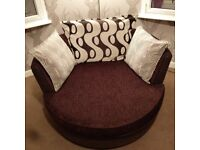 Right hand facing corner sofa & swivel chair £600