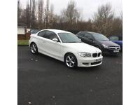 BMW 120d SE 2 DOOR SALOON WHITE DIESEL FULL SERVICE HISTORY MOTED HEATED SEATS ALLOY WHEELS