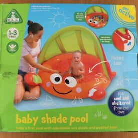 ELC baby shade pool with adjustable sun shade and padded base