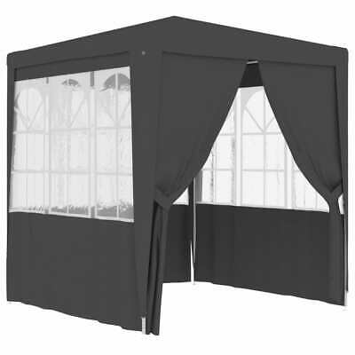 vidaXL Professional Party Tent with Side Walls 2.5x2.5m Anthracite Canopy