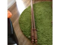 12ft Wooden Curtain Pole