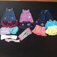 Assorted sizes 3 mos-24mos baby girl clothes