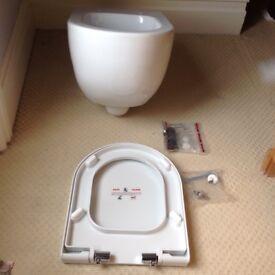 Saneux Austen 50055 White Wall Mounted WC Pan