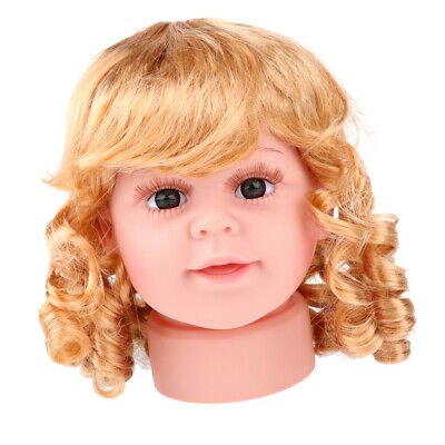 Children Head Model Girl Wig Show Hat Glasses Scarf Mannequin Display 15inch