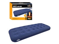 Milestone Camping Single Flocked Airbed, almost new, only used twice