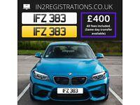 IFZ 383 Number plate / Cherished registration - IN2REGISTRATIONS-(Car,Van,Lorry,Motorcycle)