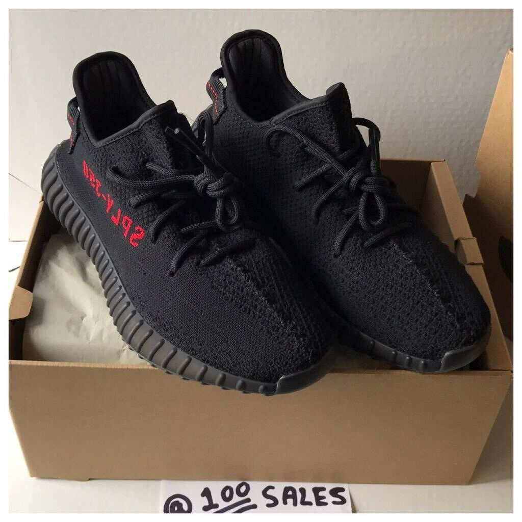 db57e4a8 Adidas x Kanye West Yeezy Boost 350 V2 Black/Red UK10/US10.5/EU44 2/3  CP9652 +SIZE? RECEIPT 100sales