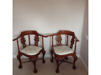 Reproduction antique chairs. Excellent condition £300 when bought accept £80 for the pair