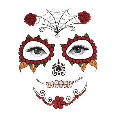 Halloween Temporäre Gesicht Tattoo Kit Party Aufkleber Spinnennetz Sticker
