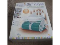 Sit n style compactable folding booster seat