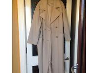 pure wool cream coat size 18