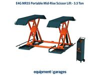 Brand New Car Scissor Lift-Mid Rise Car Lift-1 Metre Lift-Portable Car Lift-3.5T-E4G MR35