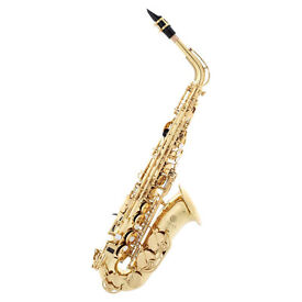 Jupiter 500 alto saxophone with quality padded rucksack case. 2 x 'Learn to play' books c/w CD's