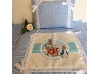 Blue peter rabbit crib set