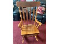 Wooden rocking chair in Antique Pine