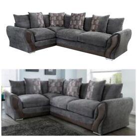 Grey brand new corner sofa Next day free delivery