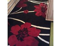 Large Black and Red Rug