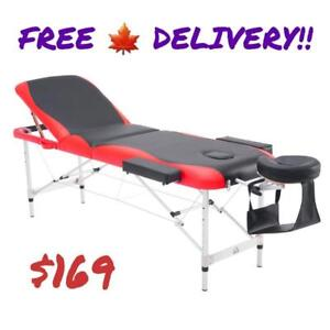 WWW.BETEL.CA || FREE DELIVERY || Premium Ultra Portable 3-Section Massage Table and ALL Accessories || We Deliver FREE!!