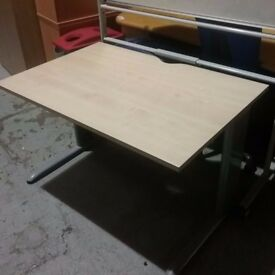 Maple desk with cantilever legs