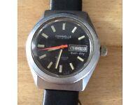 Caravelle Bulova Divers Watch Great Design Working Eta 2472