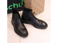 Leather Chelsea Boots Red or Dead Black Mr Callahan UK Size 8 EU 42