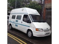 HI SPEC FORD TRANSIT 100D REGISTERED AS MOTOR CARAVAN/CAMPER VAN/IDEAL SIZE CAMPER//MAZDA BONGO//