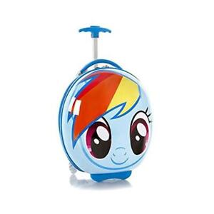 My Little Pony Circle Shaped 16 Inch Hardside Luggage for Kids [Rainbow Dash]