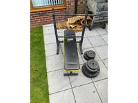 Gym bench gym weights everlast gym bench