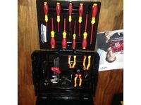 wiha electrians tool kit in a l-box