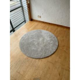Ikea Round Grey Carpet