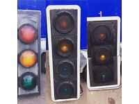 Decommissioned traffic and directional lights